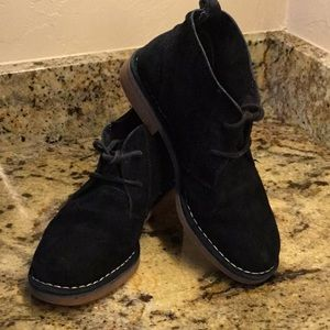 """"""" Cyra Catelyn"""" Black Suede Chukka Ankle Boot"""
